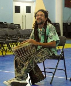 Ras Isley Drumming