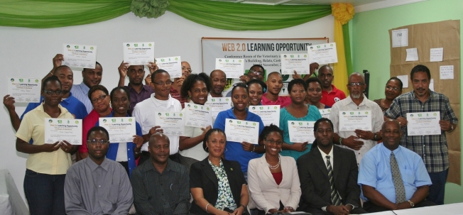 OECS Agriculture Web 2.0 Graduates Saint Lucia